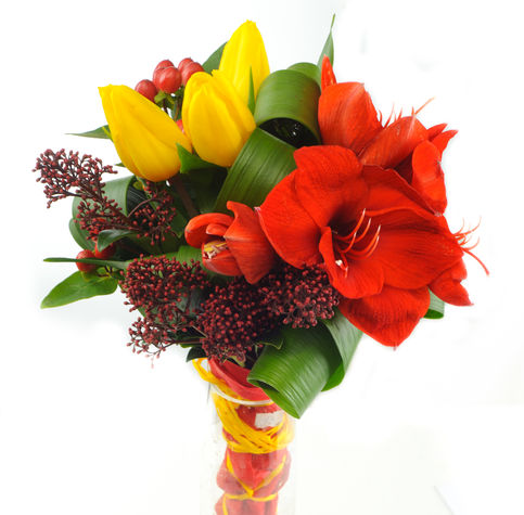 Flaming love flower delivery