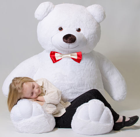 Mr Bear White, 200 cm flower delivery