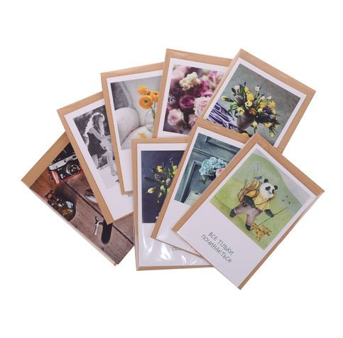 Author's postcards flower delivery
