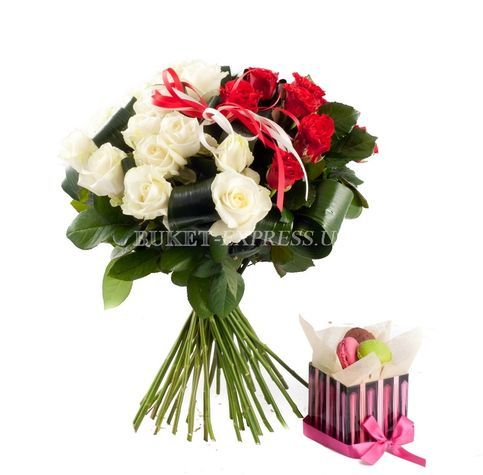 Red and White flower delivery