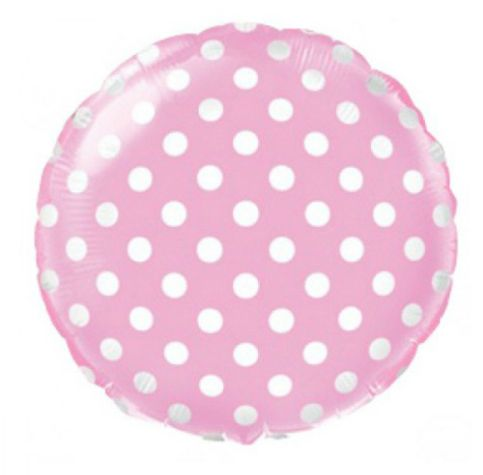 Pink with polka dots. Balloon flower delivery